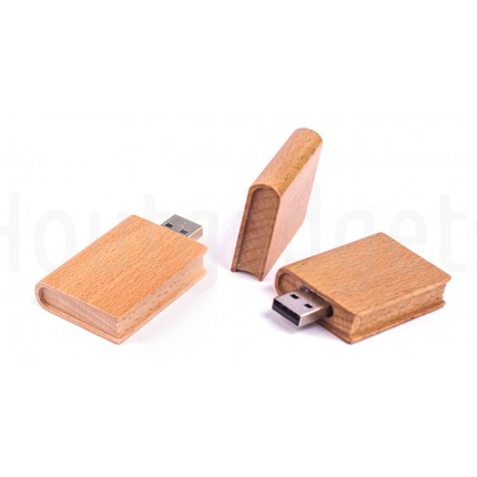 USB-stick boek hout 16GB