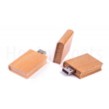 USB-stick boek hout 8GB